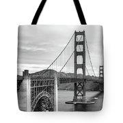 Golden Gate Bridge Black And White Tote Bag