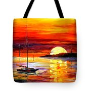 Golden Gate Bridge By The Sunset Tote Bag