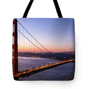 Golden Gate Bridge During Sunrise Tote Bag