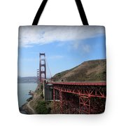 Golden Gate Bridge From The Scenic Lookout Point Tote Bag