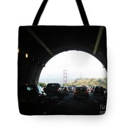 Golden Gate Bridge From Tunnel Tote Bag