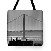 Golden Gate Bridge In Its Beauty At Sunset Tote Bag