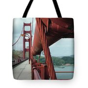 Golden Gate Bridge Low Point Of Cable Tote Bag