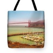 Golden Gate Bridge Sausalito Tote Bag