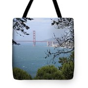 Golden Gate Bridge Through The Trees Tote Bag
