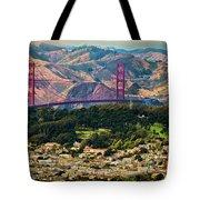 Golden Gate Bridge - Twin Peaks Tote Bag