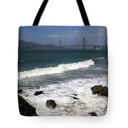 Golden Gate Bridge With Surf Tote Bag