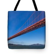 Golden Gate From The Bay Tote Bag