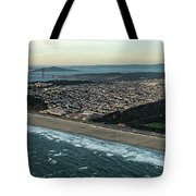 Golden Gate Park And Ocean Beach In San Francisco Tote Bag