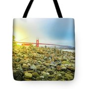 Golden Gate Stone Sculptures Tote Bag
