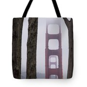 Golden Gate Through The Trees Tote Bag