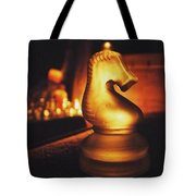 Golden Glow Knight Tote Bag