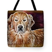 Golden Glowing Retriever Tote Bag