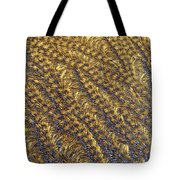 Golden Grains - Hoarfrost On A Solar Panel Tote Bag