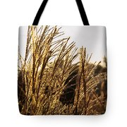 Golden Grass Flowers Tote Bag