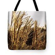 Golden Grass Flowers Tote Bag