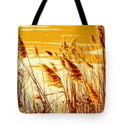 Golden Grasses Tote Bag