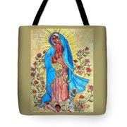 Golden Guadalupe Tote Bag