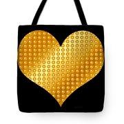Golden Heart Black  Tote Bag