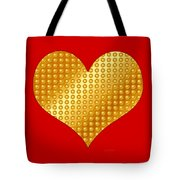 Golden Heart Red Tote Bag