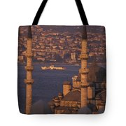 Golden Horn At Sunset From Suleymaniye Tote Bag