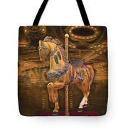 Golden Horse Tote Bag