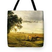 Golden Horse Trot Tote Bag