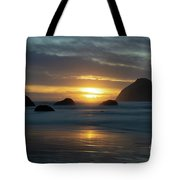 Golden Hour At Face Rock Tote Bag