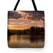 Golden Hour In New England Tote Bag