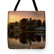 Golden Hour New England Scenery  Tote Bag