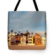 Golden Hour Panorama Of Santa Monica Condos And Bungalows - Los Angeles California Tote Bag