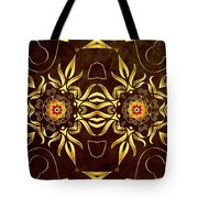 Golden Infinity Tote Bag