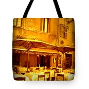 Golden Italian Cafe Tote Bag by Carol Groenen