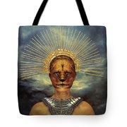 Golden Jungle Queen Tote Bag