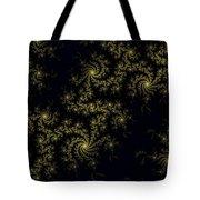 Golden Lace On Black Velvet Tote Bag
