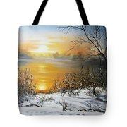 Golden Lake Sunrise  Tote Bag