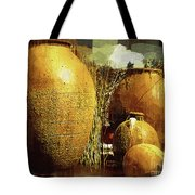 Golden Large Fountain Urns Tote Bag
