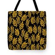 Golden Leaf Pattern Tote Bag