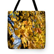 Golden Leaves Tote Bag
