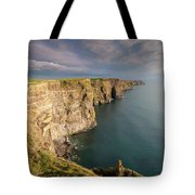 Golden Light At The Cliffs Of Moher Tote Bag