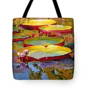 Golden Light On Pond Tote Bag