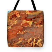 Golden Light On Valley Of Fire Arch Tote Bag