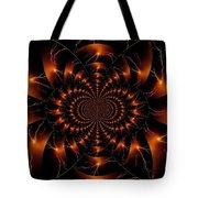 Golden Lightning Illusion Tote Bag
