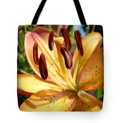 Golden Lily Flower Orange Brown Lilies Art Prints Baslee Troutman Tote Bag