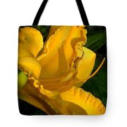 Golden Lily Watercolor Tote Bag