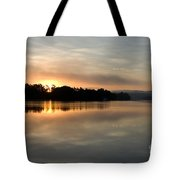Golden Liquid Dawn Tote Bag
