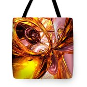 Golden Maelstrom Abstract Tote Bag