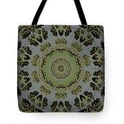 Mandala In Pewter And Gold Tote Bag