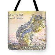 Golden-mantled Ground Squirrel, Digital Art Tote Bag
