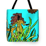 Golden Mermaid Tote Bag
